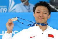 张琳勇夺中国男泳首金