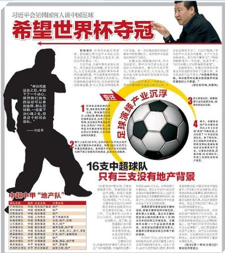 习近平提中国足球三愿望:世界杯出线 主办 夺冠