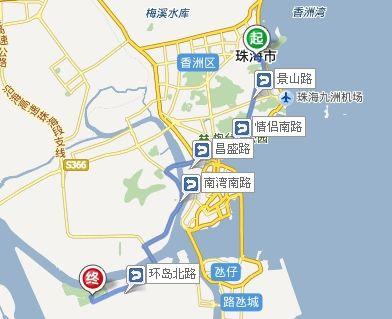 珠海翠湖高尔夫球会路线图