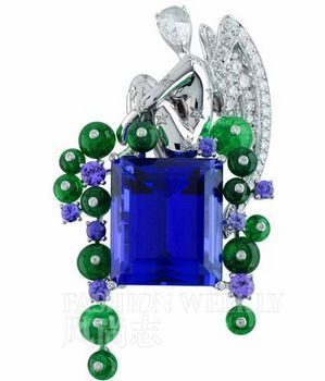 Van Cleef&Arpels 高级珠宝英式花园系列天使胸针