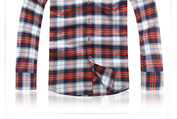 美式乡村格绒布衬衫