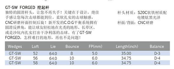 GT-SW FORGED 挖起杆(NS PRO950)
