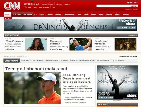 CNN毫不吝惜的给予了头条