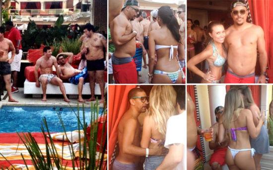 7月初梅西参加罗纳尔多的派对