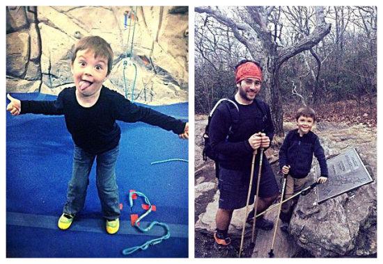 【环球网综合报道】阿巴拉契亚山脉是北美洲主要的休闲地区之一,阿巴拉契亚小道蜿蜒3380千米,其横亘的山峦、清澈的溪涧河川和稠密的森林每年都吸引着来自全球各地的背包客。据英国《每日邮报》1月27日报道,自2013年4月27日起,美国5岁的小男孩克里斯汀•托马斯在父母的带领下开始了徒步行走阿巴拉契亚小道的旅程,并已经走完2180英里(约3500公里),被网友誉为宝贝背包客。   小托马斯的父亲叫迪恩,母亲叫安德莉亚。一家人从缅因州出发,经过数月的跋涉后到达格鲁吉亚,全程约2180英里(约35