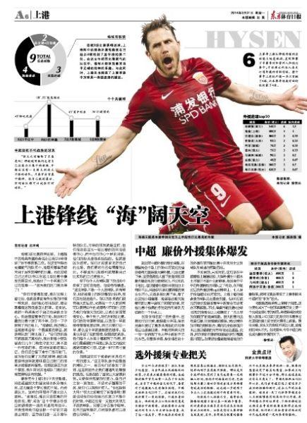 东方体育日报版面图