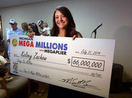 6600万美元得主领奖
