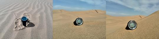 库布其沙漠的测试图。