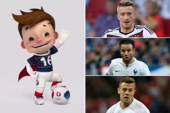 哪名球员最像吉祥物小男孩呢?