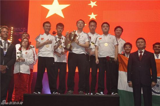 中国男子国象奥赛夺冠扬威