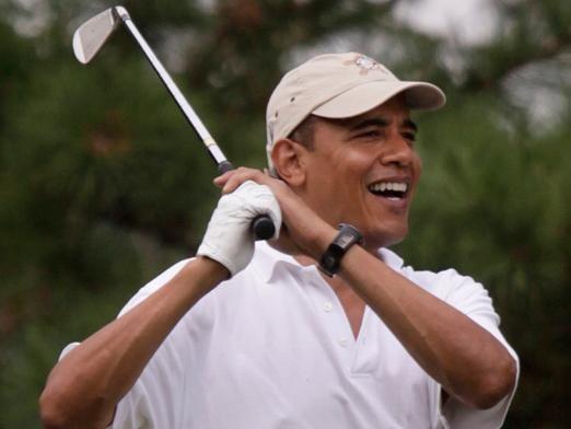 爱打高尔夫的奥巴马