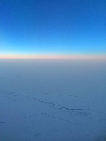 北京至纽约的航班,途经北冰洋