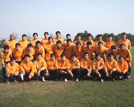 图文-2009年中甲联赛各俱乐部全家福南京有有
