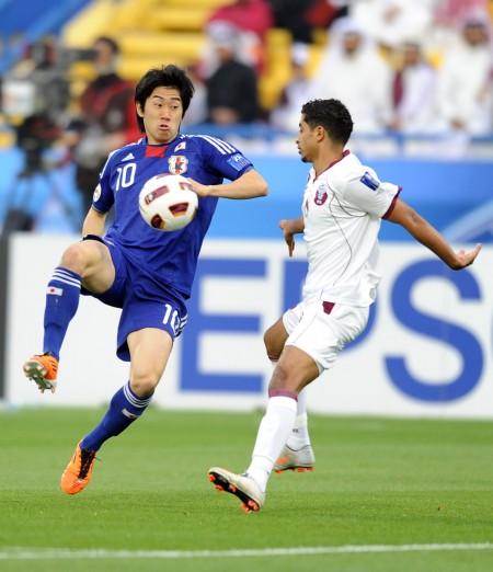 [亚洲杯]1\/4决赛日本3-2卡塔尔 香川真司带球过