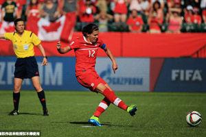 中国女足补时遭点球绝杀 0