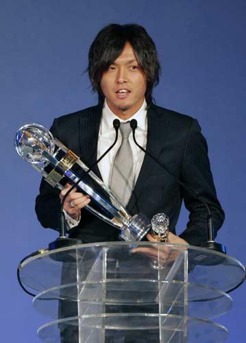 图文-2009亚足联颁奖晚会举行远藤保仁获奖感言