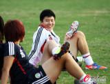 图文-中国女足备战四国赛预赛末轮