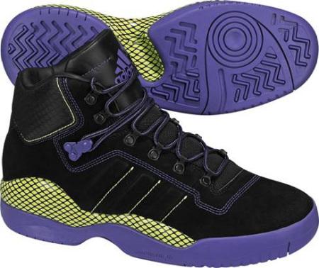 阿迪达斯 男子 篮球鞋 G07039/一号黑/深紫