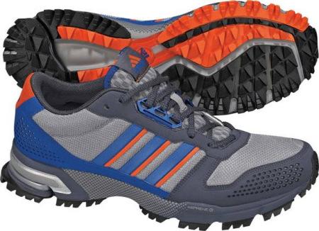 阿迪达斯 跑步鞋 G21772铝灰/完美蓝/辐射橙