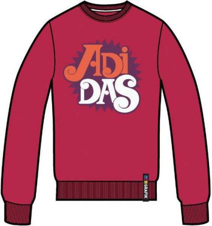 阿迪达斯 毛衣 P85431暗红
