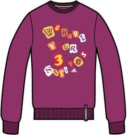 阿迪达斯 毛衣 P85428完美紫红