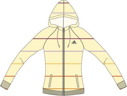 阿迪达斯 连帽夹克 U35766淡骨白/金属黑银