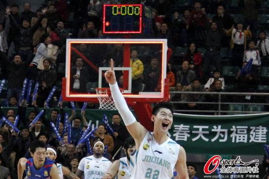 王哲林庆祝绝杀