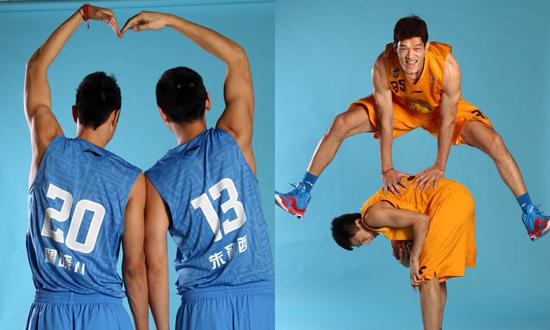 CBA星锐搞笑写真:北京2013组合 葛朝宝飞跃队友