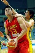 图文-[钻石杯]中国55-67澳大利亚 博古特防守姚明