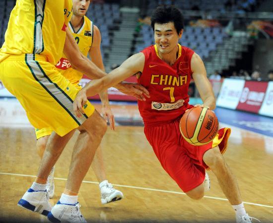 图文-[钻石杯]中国55-67澳大利亚 王仕鹏以一敌二