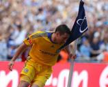 图文-足总杯切尔西2-1埃弗顿 兰帕德庆祝进球