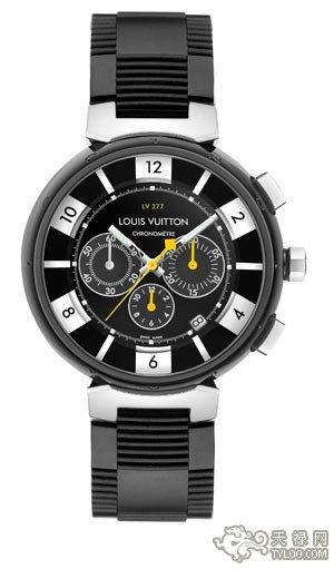 从灵动汽车世界汲取灵感路易威登腕表的纯黑力量
