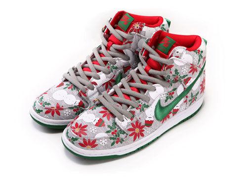 充滿圣誕元素的NIKE SB滑板鞋