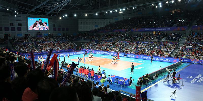世界女排联赛江门站中国0-3不敌美国一胜两负收官