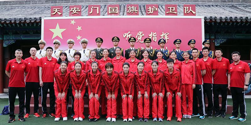 鼓士气 扬国威----中国女排接受爱国主义教育