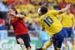 图文-[欧洲杯]瑞典VS西班牙伊布侧身凌空射门