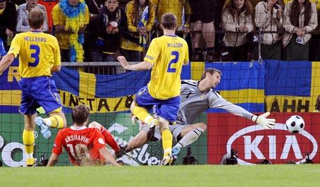 图文-[欧洲杯]俄罗斯VS瑞典阿尔沙文将优势扩大