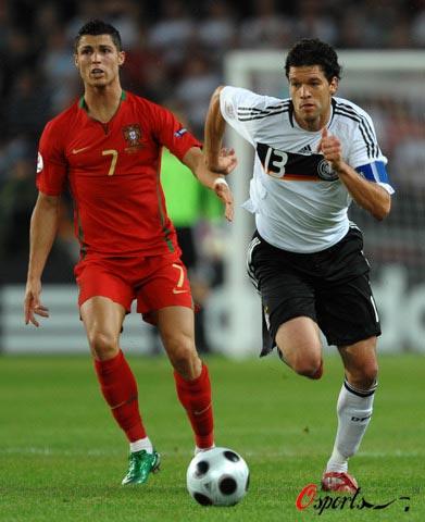 图文-[欧洲杯]葡萄牙2-3德国巴拉克强行趟过C罗