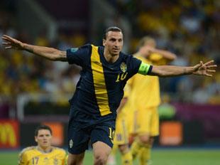 伊布破门难助瑞典