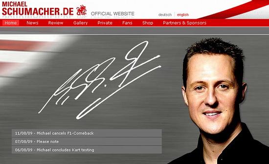 迈克尔-舒马赫宣布放弃复出 F1车王回归终成梦