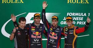 F1日本站维泰尔5连冠阿隆索第四留住总冠军悬念