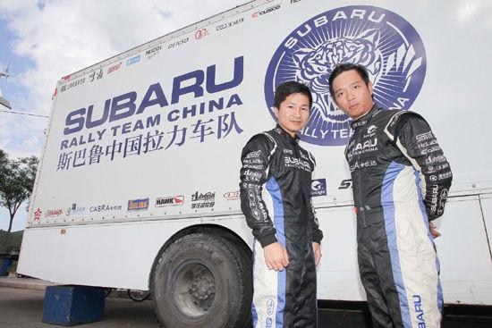 孙强(右)与梁晓明(左)