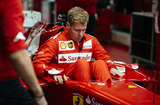 维泰尔首次测试法拉利F1赛车