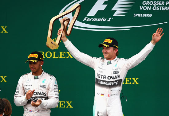 F1奥地利站颁奖仪式