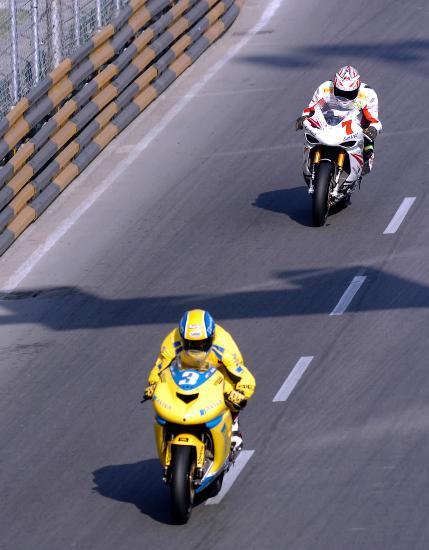 图文-澳门格兰披治摩托车赛奥地利车手欣特赖特尔