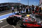 图文-F1法国站第三次练习赛汉密尔顿驶出车库
