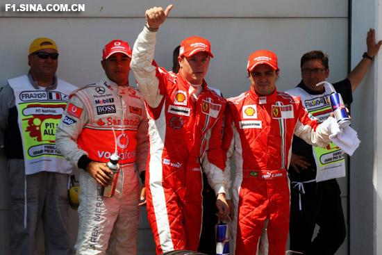 图文-F1法国大奖赛排位赛今天是属于莱科宁的演出