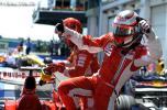 图文-F1法国大奖赛排位赛莱科宁下车亦是霸气十足