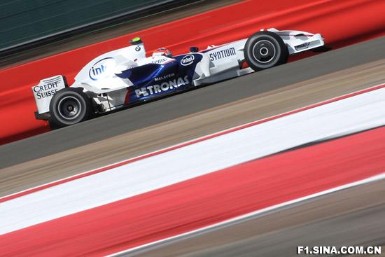 图文-F1英国站排位赛宝马-索伯车手库比卡