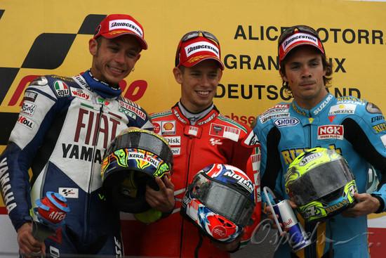 图文-MotoGP德国站斯通纳夺冠三人分属三队